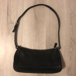 Black Coach Leather Shoulder Purse Bag